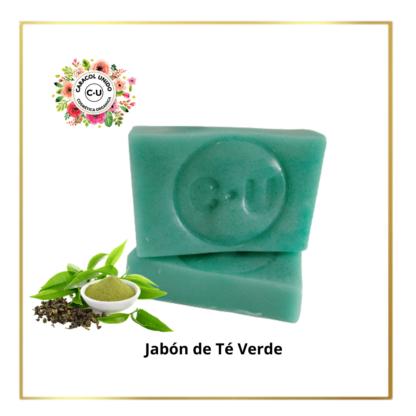 jabón de te verde y baba